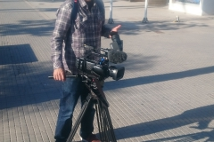 Carlos, der Kameramann, an der Playa de Palma