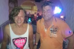... gemeinsam mit Michael Weber (während der Nachttour am Montag)